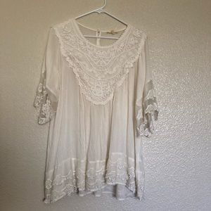White lace top - M